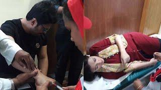 মোটর সাইকেল দুর্ঘটনায় আহত ফেরদৌস ও পূর্ণিমা: actor fedows actress purnima fall on bike accident