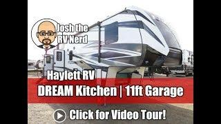 2019 Fuzion 369 DREAM Kitchen Luxury Fifth Wheel Keystone Toy Hauler with 11ft Garage