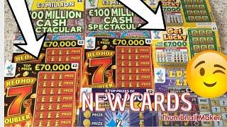 SCRATCH CARD..NEW RED HOT 7s Doubler ????????Get Lucky ???? Cash spectacular ????Luxury Lines ??????
