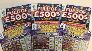 Video 101 - Full Of 500's & Luxury Lines Scratchcards????