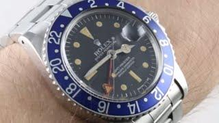 "Rolex GMT-Master ""Blueberry"" (VINTAGE) 1675 Luxury Watch Review"