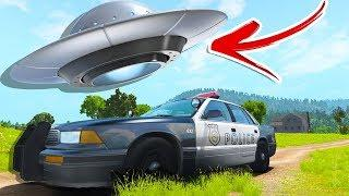 UFO in BeamNG?! ABDUCTED BY ALIENS! - BeamNG Drive Flyable UFO Mod