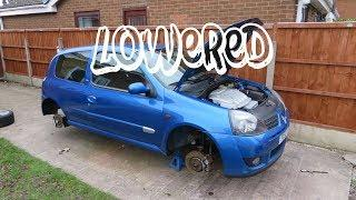 Lowering the Clio 172 Cup on EIBACH springs I got for £50!