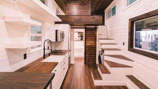Amazing Price Under $40k For Absolutely Luxury Tiny House with Awesome Bathroom by California Tiny H
