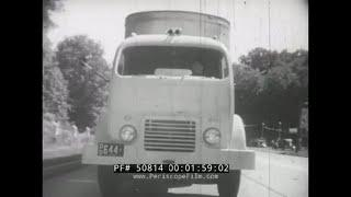 "1952 SEMI TRUCKS & TRUCK DRIVER  DRIVER'S EDUCATION FILM  "" KNIGHTS OF THE HIGHWAY "" 50814"