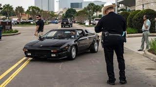 COPS PULL OVER FAMOUS LAMBORGHINI! - Houston Coffee and Cars April 2019