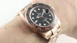 2018 Rolex GMT-Master II (First Rose Gold GMT) 126715CHNR Luxury Watch Review