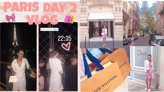 PARIS VLOG ~ luxury shopping, eiffel tower at night, 5 star hotel room tour & more!????????❤️