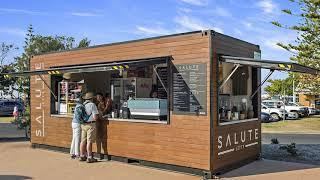 Luxury Shipping Container Cafe