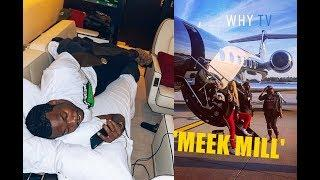 Meek Mill Living His Luxury Life 'Shows His Private Jet And Cars'