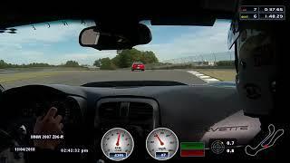Michai driving C6 Z06 at Barber 11 4 18