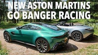New Aston Martin Vantage vs DB11 Volante with RACE TRACK ending! w/ Tiff Needell