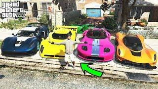 Stealing Luxury Cars with Franklin in GTA 5! (Franklin Becomes Rich)