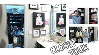 HUSBAND BUILDS LUXURY CLOSET FOR WIFE | FULL CLOSET TOUR