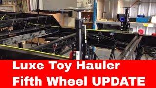 Luxe luxury Toy Hauler Chassis leveling system