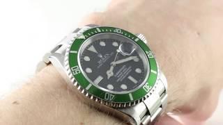"""Rolex Submariner """"Kermit"""" 16610LV / Mark I Luxury Watch Review"""