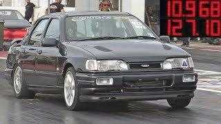 600HP+ Ford Sierra Sapphire Cosworth at Hal Far Raceway