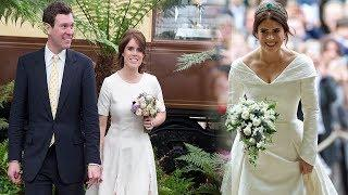 Revealing the luxury of the wedding gowns of Princess Eugenie and Fergie