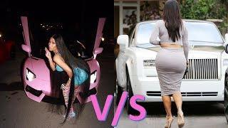 Kim Kardashian's Luxury Cars VS Nicki Minaj's Luxury Cars.
