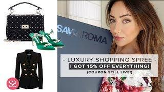 I WENT ON A LUXURY SHOPPING SPREE... & the discount is still working!   LUXE HAUL   Sophie Shohet