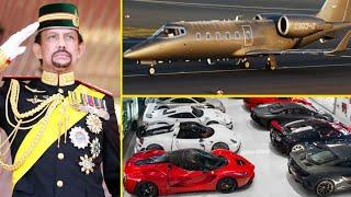 Brunei KING Luxurious Lifestyle  ● Car Collection ● Gold Plane  ●  Royal Palace ●