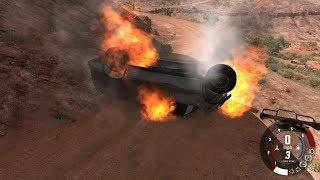 EXTREME CRASHES - Epic High Speed Jumps Over The Hills - Beamng Drive #448