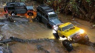 Traxxas TRX-4 and Vaterra Ascender K-10 going wet