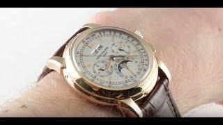 Patek Philippe 5970R-001 Perpetual Calendar Chronograph Luxury Watch Review