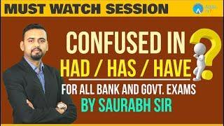 Confused In Had / Has / Have | Complete Class On Tense | By Saurabh Sir | 6 P.M.