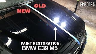 E5: Amazing Paint Correction Results on 15 Year Old Black BMW E39 M5