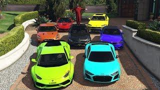 GTA 5 - Stealing Luxury Cars with Michael! (Expensive Real Cars)