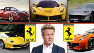 Top 5 Expensive Ferrari Owned By Gordon Ramsay 2018 ✮