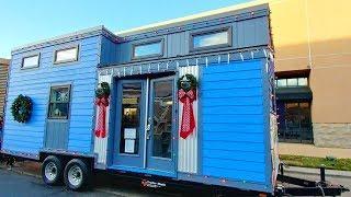 Luxury Blue Columbine 24 ft. Tiny Home | Lovely Tiny House
