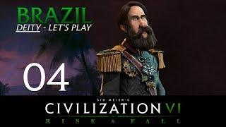 Deity Brazil | Civilization 6 Let's Play | Episode 4 [Luxury]