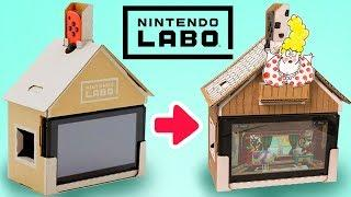 Decorating the Nintendo Labo House | DIY Cardboard Craft Ideas