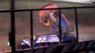 Late Model Crash | Bump Hedman & Steve Kania | Eriez Speedway | 7-1-18