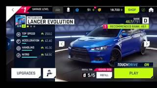 Asphalt 9 - LIST OF ALL CARS IN D CATEGORY