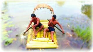 Cuộc sống sinh tồn☣ làm thuyền cây chuối để sinh tồn sống sót trên sông