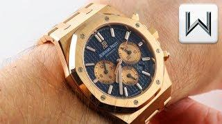Audemars Piguet Royal Oak Chronograph (BLUE DIAL) 26331OR.OO.1220OR.01 Luxury Watch Review