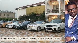 Nana Appiah Mensah's mansion, luxury cars at Trassaco