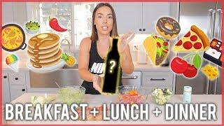 WHAT I EAT IN A DAY   BREAKFAST + LUNCH + DINNER