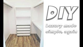 DIY Building a luxury closet with softclose drawers under 300$? Ikea Lifehack