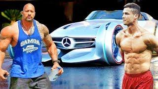 Ronaldo vs The Rock 2018 | Who has the best cars | Top TV