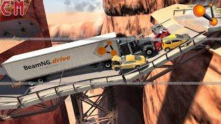 Destructible, collapsible bridge crashes BeamNG Drive