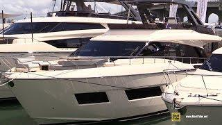 2019 Ferretti 670 Luxury Motor Yacht - Deck Interior and Bridge Walkthrough - 2019 Miami Yacht Show