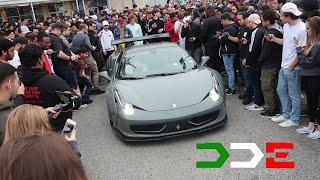 DAILYDRIVENEXOTICS SHUTS DOWN CARS AND COFFEE HOUSTON IN LIBERTY WALK FERRARI 458!!