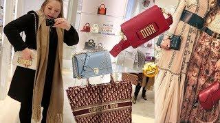 Dior Luxury Shopping Vlog ☆ Trying On Dior Bags From Dior Cruise 2019 Collection