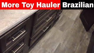More - Luxe fifth wheel Toy Hauler Brazilian interior - luxury toy hauler