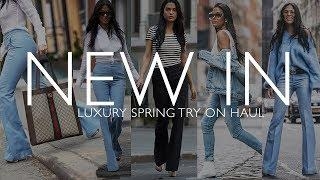 NEW IN: Spring Outfits Luxury try on haul ft. Gucci, Sergio Rossi