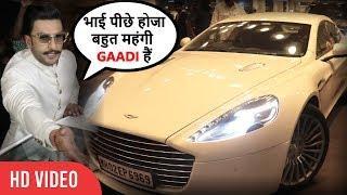 Media Attacks On Ranveer Singh's Luxury Car at Mumbai Airport | Ranveer Deepika Marriage